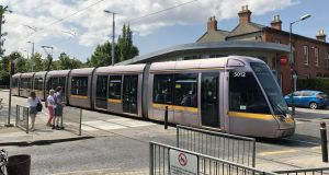 Beechwood Luas crossing in Ranelagh: Objections started with a little thoroughfare connecting Dunville Avenue with Beechwood Road that would initially have been closed to accommodate an uninterrupted MetroLink line and replaced with a footbridge. Photograph: Bryan O'Brien