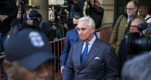 Roger Stone: ordered by a judge  not to publicly discuss the details of his criminal case. Photograph:  Al Drago/Bloomberg