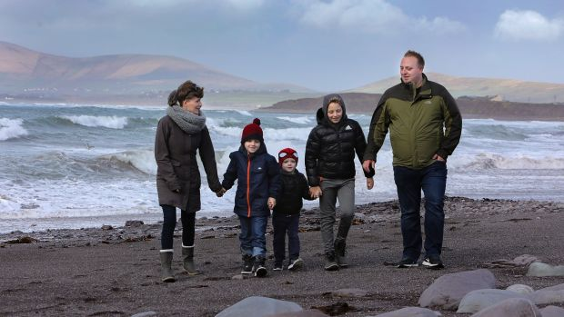 Kasia and Tomasz Gwis, originally from Poland, moved to Waterville Co Kerry, 13 years ago. They have three boys, Kuba, the eldest, Wojtek and Jasiu. Photograph: Valerie O'Sullivan/The Irish Times