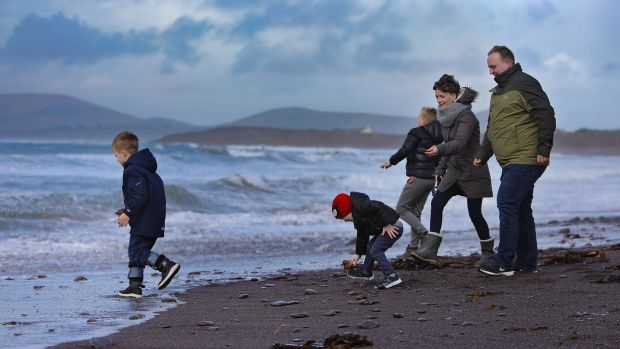 Kasia and Tomasz Gwis, orginally from Poland, moved to Waterville Co Kerry, 13 years ago. They have three boys, Kuba, the eldest, Wojtek and Jasiu. Photograph: Valerie O'Sullivan/The Irish Times