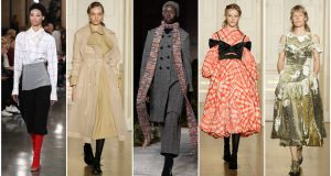 Looks from London Fashion Week. Photographs: PA, Getty Images