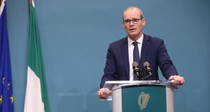 Minister for Foreign Affairs and Trade Simon Coveney   outlining   plans for a no-deal Brexit at Government Buildings. Photograph:  Sam Boal/RollingNews.ie