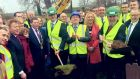 The Taoiseach was speaking in Co Sligo where he and Minister for Transport Shane Ross were turning the sod on a €150m road upgrade between Castlebaldwin and Collooney. Photograph: Twitter