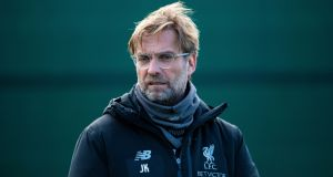 Liverpool manager  Jürgen Klopp believes Ole Gunnar Solskjær will be offered the Manchester United job on a full-time basis. Photograph: Peter Powell/EPA