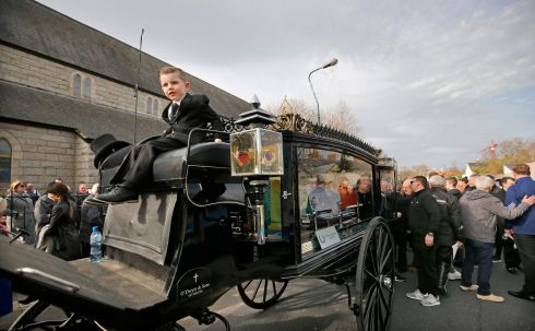 "The Funeral of John ""Whacker"" Humphrey, scourge of inner city 1990s drug dealers and a founder of Concerned Parents Against Drugs.  Photograph Nick Bradshaw for The Irish Times"