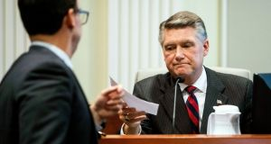 Republican candidate for Congress Mark Harris: fraud inquiry into his campaign has prompted a call for new election. Photograph: Travis Long/New York Times