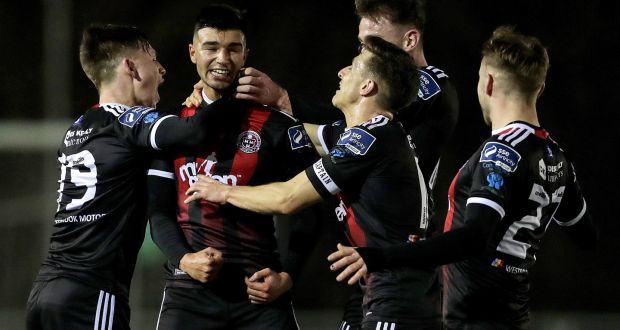9d694fd8fd1 Bohemians' Daniel Mandroiu celebrates scoring a goal with team-mates during  the SSE Airtricity