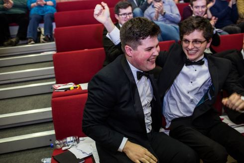 The winners will now be invited to go on a debating tour of the United States. Photo: James Forde/The Irish Times