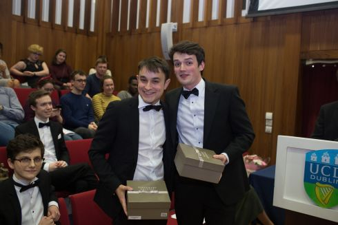 Runners up: Rory O'Sullivan and Harry Higgins (TCD Philosophy.)  Photograph: James Forde/The Irish Times