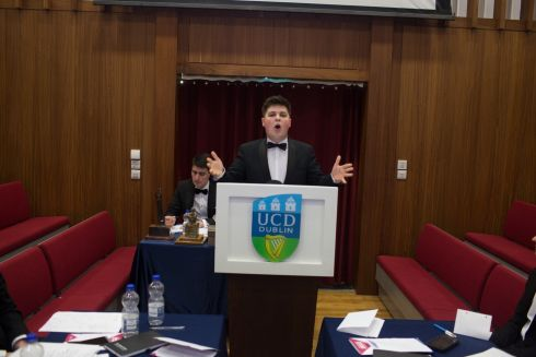 Ronan Daly from Trinity college History team. Contestants from The Kings' Inns, UCD, Trinity College and the Solicitors' Apprentice Debating Society of Ireland were all represented among this year's 12 finalists. Photograph: James Forde/The Irish Times