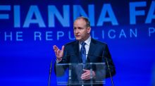 Party leader  Micheál Martin told the Fianna Fáil Ardfheis he wanted the Government gone but delegates had to face the 'harsh reality of this very moment'. Photograph: James Forde for The Irish Times