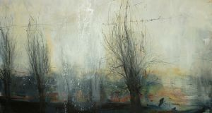 'Winter's Hill II', part of  Patricia Burns'  exhibition at Taylor Galleries