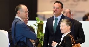 Taoiseach Leo Varadkar  arrives to attend the first joint European Union and Arab League summit at the International Congress Centre in the Egyptian Red Sea resort of Sharm el-Sheikh. Photograph: AFP/Getty Images
