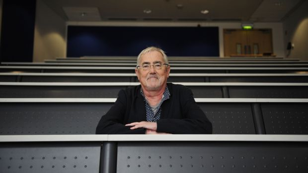Greg Foley, an associate professor at Dublin City University's school of biotechnology, fee;s higher education is turning into an extended form of secondary school. Photograph: Aidan Crawley