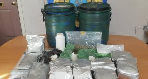A drugs seizure by gardaí in Athlone, Co Westmeath, earlier this month