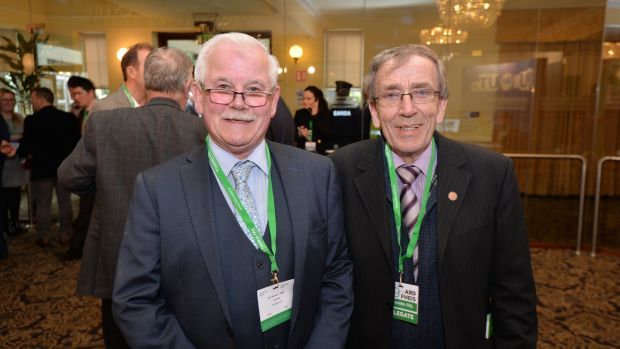 Michael O'Reilly and John O'Connor from Monaghan. Photograph: Alan Betson