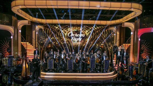 The RTE Concert Orchestra provied the music for the dancers on Dancing with the Stars on Sunday. Photograph: Kyran O'Brien