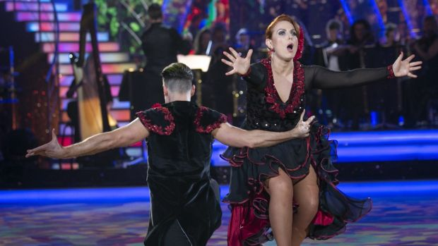 Clelia Murphy and Vitali Kozmin scored 25 points for their passionate paso doble. Photograph: Kyran O'Brien