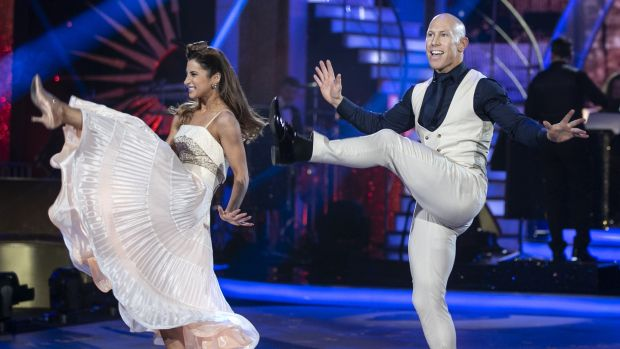 Peter Stringer and Ksenia Zsikhotska could only kick up 20 points from the judges. Photograph: Kyran O'Brien