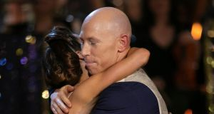 Peter Sringer the moment he was voted off Dancing with the Stars. Photograph: Kyran O'Brien