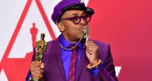 Spike Lee: the director, who won a best-adapted screenplay Oscar, tried to storm out of the Dolby Theatre after Green Book was announced best-picture winner. Photograph: Frederic J Brown/AFP/Getty