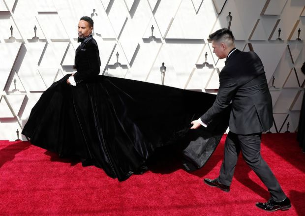 Billy Porter arrives for the 91st annual Academy Awards ceremony at the Dolby Theatre in Hollywood. Photograph: EPA
