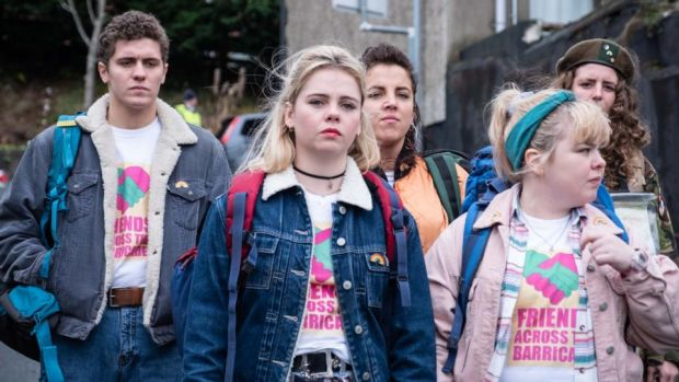 Derry Girls: James Maguire, Saoirse-Monica Jackson, Jamie-Lee O'Donnell, Nicola Coughlan and Louisa Clare Harland