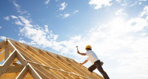 The construction industry witnessed an annual increase of 8 per cent to €810.60. Photograph: iStock