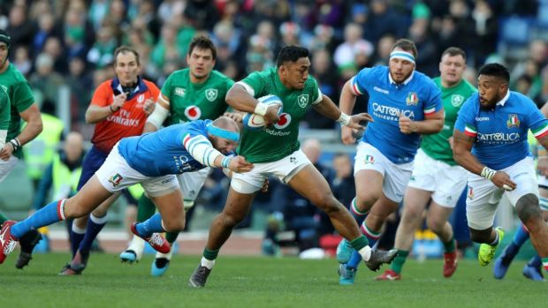 The loss of Bundee Aki so early didn't help Ireland's cohesion. Photograph: David Rogers/Getty Images