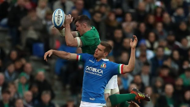 The Virgin Media panel took issue with Peter O'Mahony's comments after the Italy game. Photograph: David Rogers/Getty Images