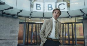 Alan Partridge: clearing the air before presenting This Time. Photograph: Andy Seymour/BBC