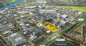 Sandyford Central, Dublin: The strong price achieved reflects the attractiveness of the site's location.
