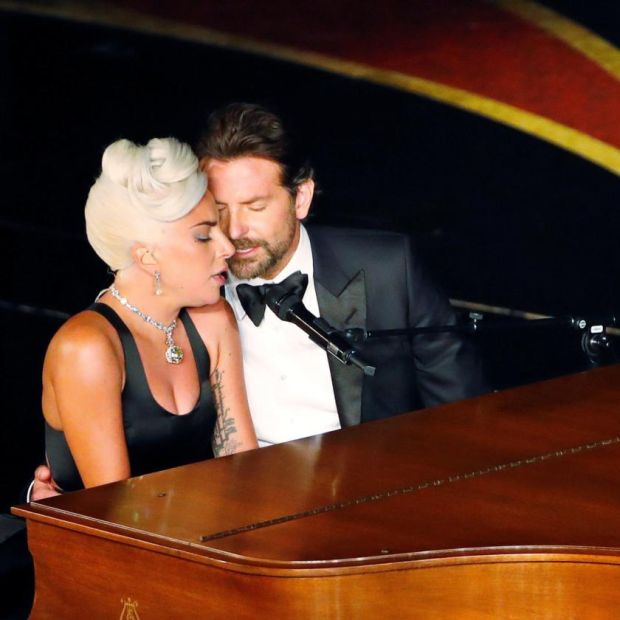 Oscars 2019: Lady Gaga and Bradley Cooper. Get a room, guys. Photograph: Mike Blake/Reuters