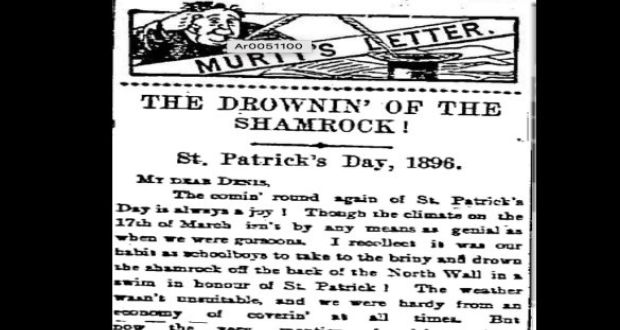 "The Baltimore Sun of March 19th, 1859: There was a terrible riot among the Irish, near Baltimore, on St Patrick's Day . . . fighting lasted three hours and ""was as bloody as some skirmishes that have respectable places in history."""