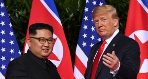 In advance of his meeting with North Korean dictator Kim Jong-un in Vietnam this week, US president Donald Trump has hit a note of realism – a sign, perhaps, that the White House knows it over-sold the last summit between the two men, in Singapore last year. Photograph: Saul Loeb/AFP/Getty Images