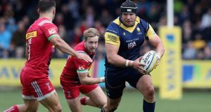 Gareth Milasinovich in action for Worcester Warriors in the Aviva Premiership. Photograph: David Rogers/Getty Images