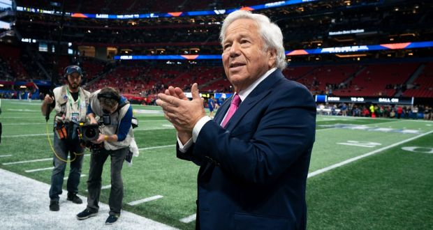 New England Patriots owner Robert Kraft  has been charged with two counts of soliciting sex from a prostitute in early 2019. He was said to have visited a spa called Orchids of Asia in Jupiter, Florida. Photograph: Doug Mills/The New York Times