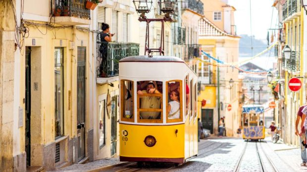 Lisbon, Portugal: A ticket bought on this old-fashioned yellow costs less than €3.
