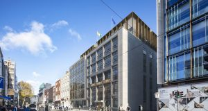 CGI of refurbished former New Ireland building on Dawson Street, Dublin