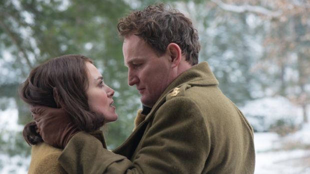 'It's interesting because we're still dealing with the fallout [from the second World War].' Above, Jason Clarke and Keira Knightley in The Aftermath