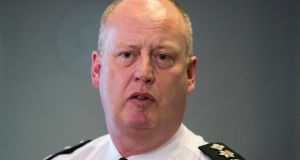 PSNI Chief Constable George Hamilton: 'I think Mary Lou McDonald was wrong.' Photograph: Liam McBurney/PA Wire