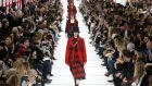 Models present creations by designer Maria Grazia Chiuri as part of her autumn/winter  collection for  Dior during Paris Fashion Week on MOnday. Photograph: Stephane Mahe/Reuters