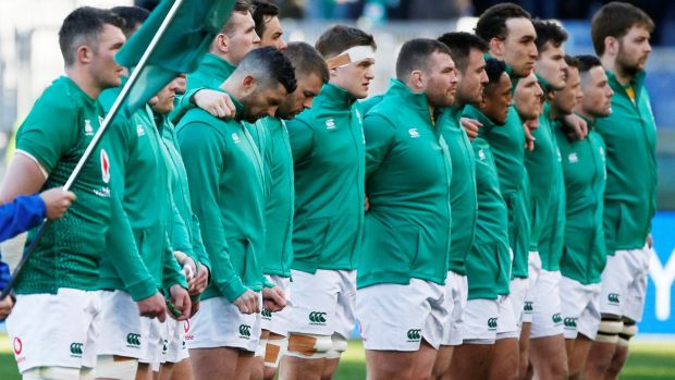 In modern times, Ireland have won the Grand Slam twice, in 2009 and 2018, which were not World Cup years. Photograph: Ciro De Luca/Reuters