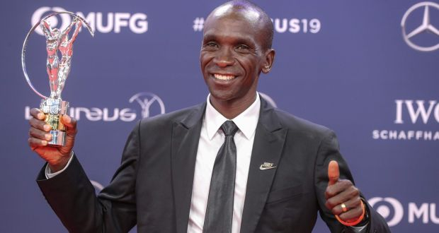 Marathon world record holder Eliud Kipchoge ran a time of 2:01.39 last September in Berlin. Photograph: Valery Hache/AFP/Getty Images
