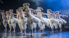 Matthew Bourne's Swan Lake: so much strength and grace oozes from the men's silken feathers that it ups the ante for everyone else on stage. Photograph: Johan Persson