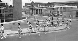 The Dublin City Marathon, from Fitzwilliam Square to Merrian Square, circa October 1984. Photograph: Independent News and Media/Getty Images