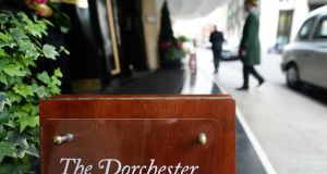 The Dorchester Hotel in London, where Presidents Club dinners used to take place. Photograph: Andy Rain/EPA