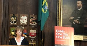 Edna O'Brien speaks at the launch of the Dublin One City One Book festival on Wednesday. Photograph: Martin Doyle