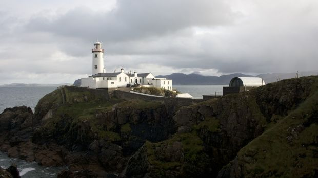 Pod home on the grounds of Fanad Lighthouse.
