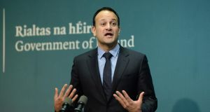 The Taoiseach said the Government had delivered on the issue with 80 per cent of homes and businesses now served but he acknowledged the lack of service to the remaining 20 per cent. Photograph: Dara Mac Dónaill/The Irish Times